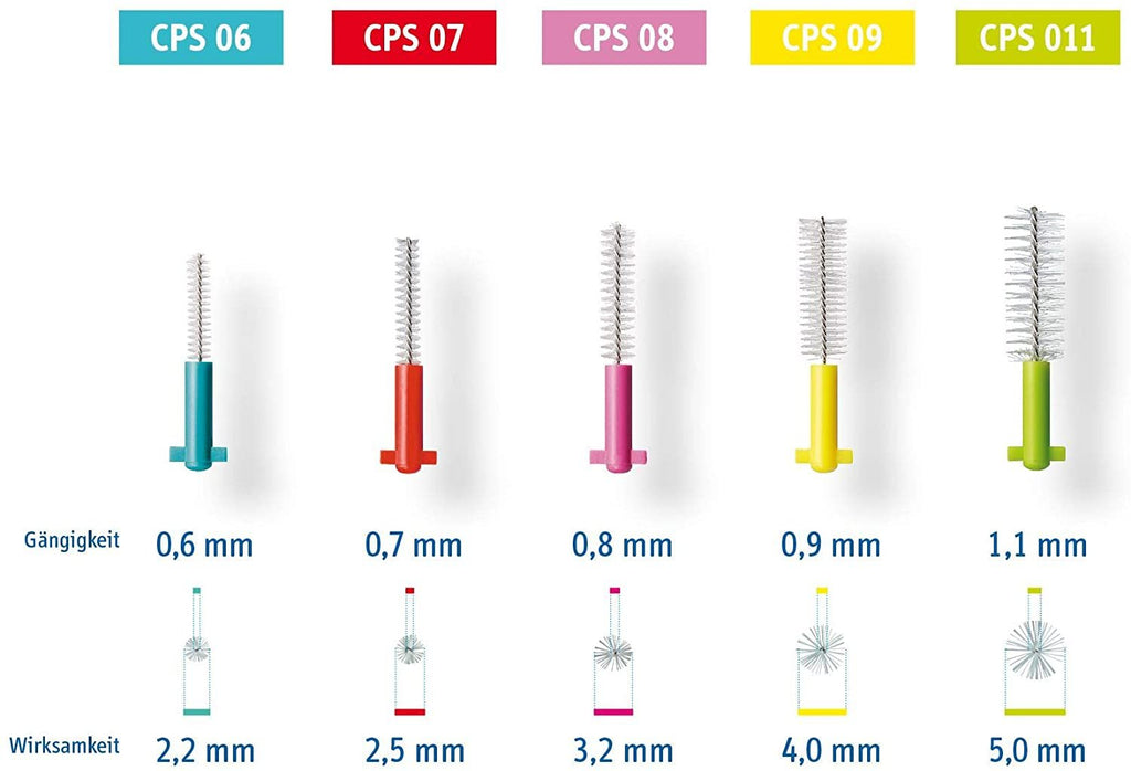 Curaprox Swiss CPS 09 Prime Refill Interdental Brushes 8 Pieces Yellow