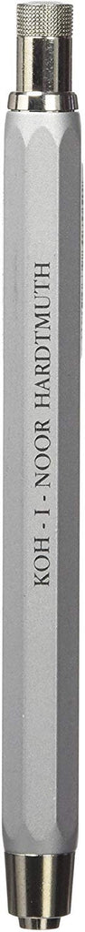 Koh-I-Noor 5.6mm Mechanical Metal Clutch Leadholder with Built-in Sharpener 5340 : Silver