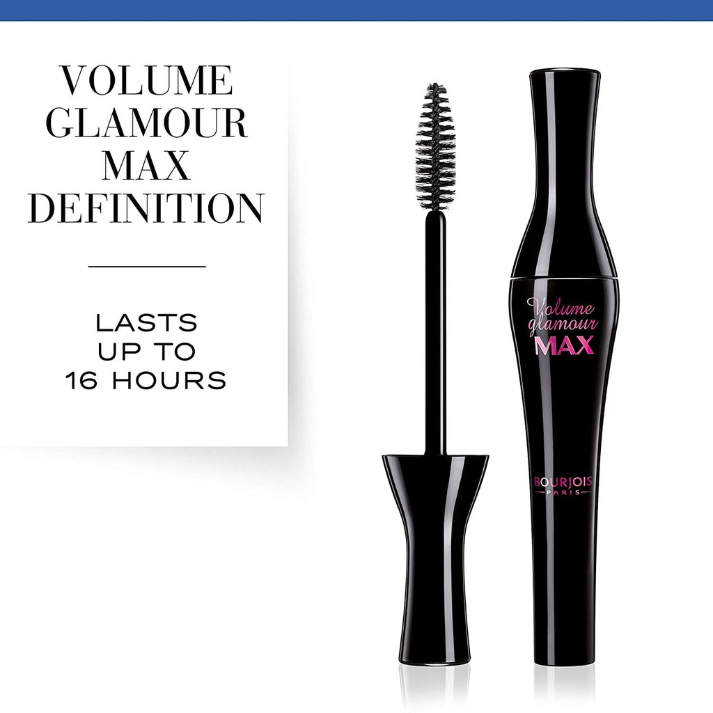 Bourjois Volume Glamour Max Mascara for Women, 51 Noir, 0.3 Ounce