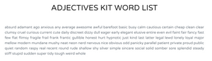 Adjectives Kit