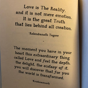 The Way of Love ~ inspiring quotations for a world we dream is possible
