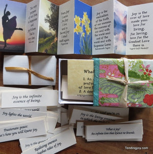 Joy Box ~ 108 inspirations, a rose quartz heart & other bits of loveliness
