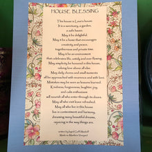 Load image into Gallery viewer, House Blessing ~ a well loved blessing, 8x10 & ready to frame