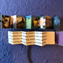 Load image into Gallery viewer, Breathe, mini accordion book
