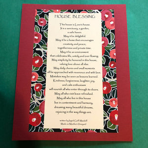 House Blessing ~ a well loved blessing, 8x10 & ready to frame