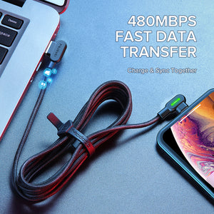 90°USBケーブル  iPhone用 | 90°USB CABLE FOR iPHONE