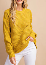 Load image into Gallery viewer, Ribbed Trim Mustard Sweater {S/M•M/L} 50% OFF