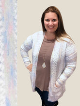 Load image into Gallery viewer, Baby Blue Stripe Pocket Cardigan