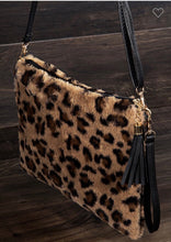 Load image into Gallery viewer, Leopard Plush 3 in 1 Bag