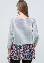 Load image into Gallery viewer, Lavender Leopard Hem Top