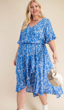 Load image into Gallery viewer, Floral Surplice Dress ( XL - 2XL )