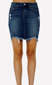 Kan Can Dark Wash Denim Skirt {XS/S/M/L}