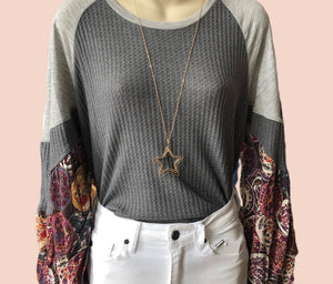 Puff sleeve top {S/M/L}