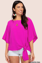 Load image into Gallery viewer, Magenta Pink Kimono Sleeve Top {S/M/L}