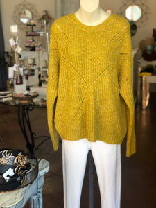 Ribbed Trim Mustard Sweater {S/M•M/L} 50% OFF