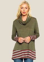 Load image into Gallery viewer, Stripe Trim Tunic ( 60% OFF )