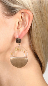 Foil Flake Acetate Earrings {gold/silver}