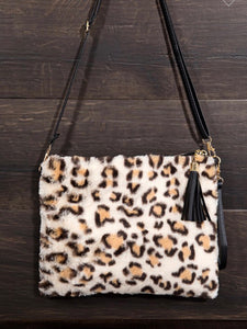 Leopard Plush 3 in 1 Bag
