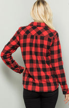 Load image into Gallery viewer, Cozy Lined Buffalo Plaid Shacket