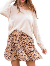 Load image into Gallery viewer, Tiered Leopard Skirt