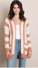 Load image into Gallery viewer, Tan Stripe Pocket Cardigan