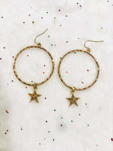 Star Charm Dangle Earrings {Gold/Silver} 60% OFF