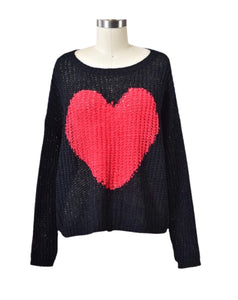 Heart Sweater 60% OFF