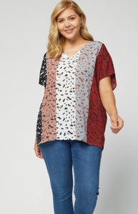 Multi Color Animal Print Top {S/M/L/XL/1XL/2XL}