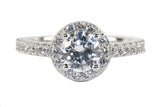 Cubic Zirconia 1 1/4 CT. TW.  Simulated Diamond Halo Ring