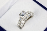Cubic Zirconia Round 4 CT. T.W. Bridal Ring Set