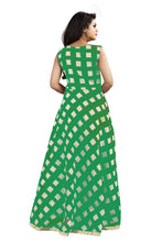 Load image into Gallery viewer, 107 Modal Green  Chanderi long gown size-XXl
