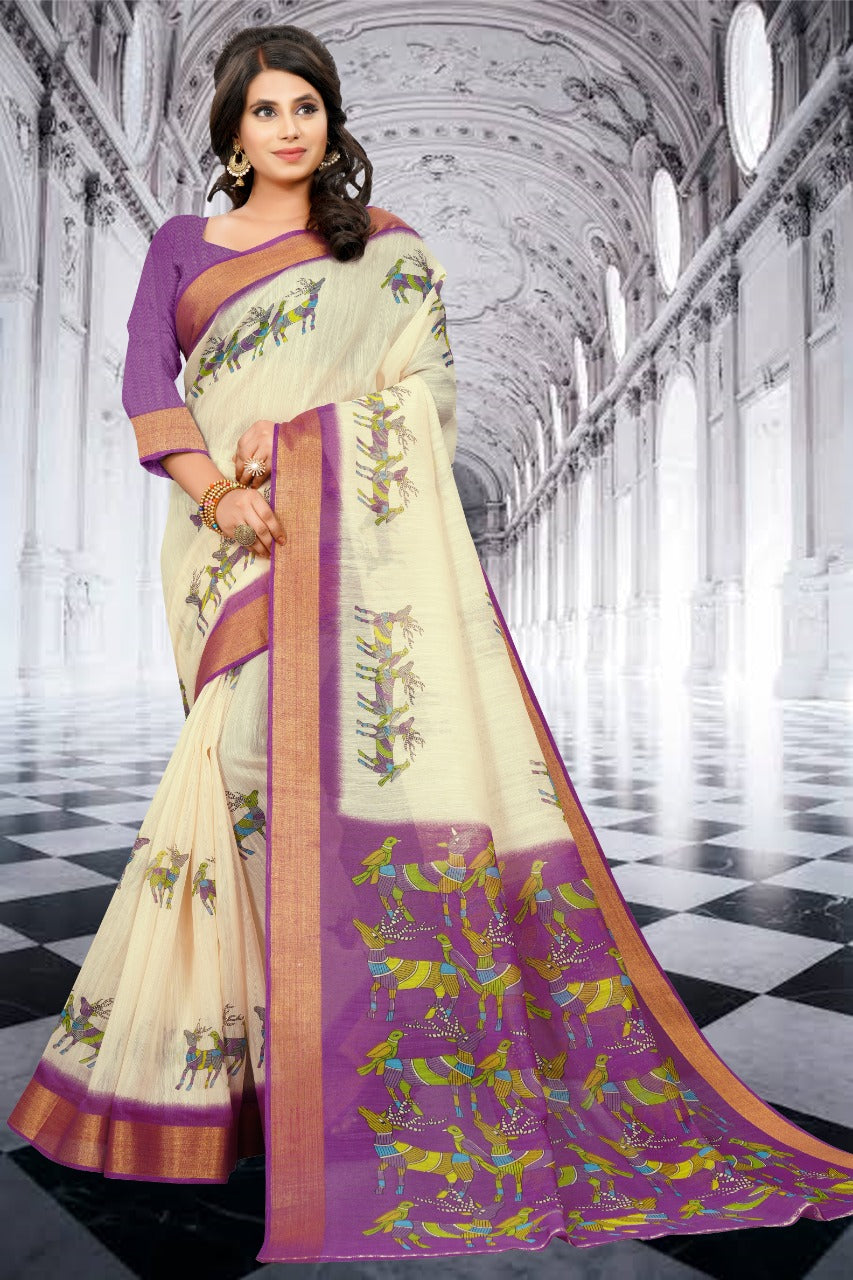 SBT-565-2 Digital printed Cotton Saree