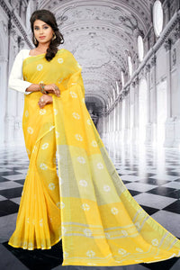 SBT-524-2 Beautiful Digital Linen Saree with Blouse Piece