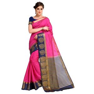 4FE11301 Cotton Silk  SAREE With Blouse Piece