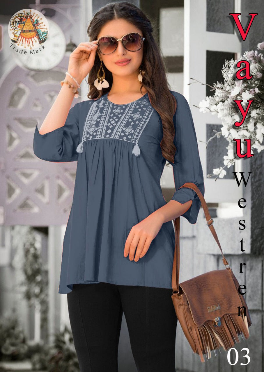 4FE118VAYU03-XL-Western wear top