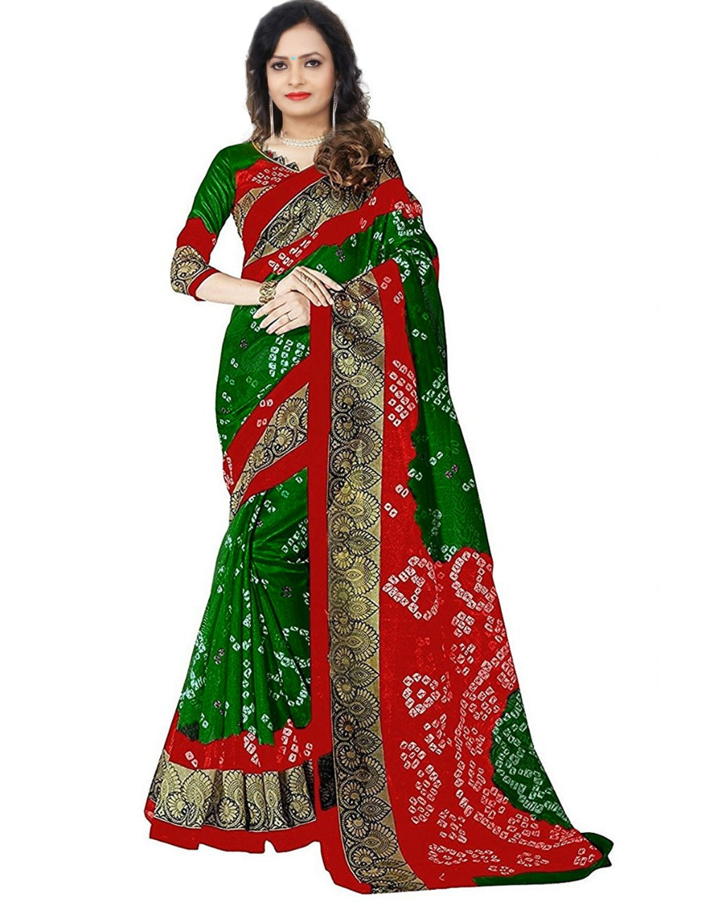Bandhani-6 Printed Bhagalpuri Saree With Blouse Piece