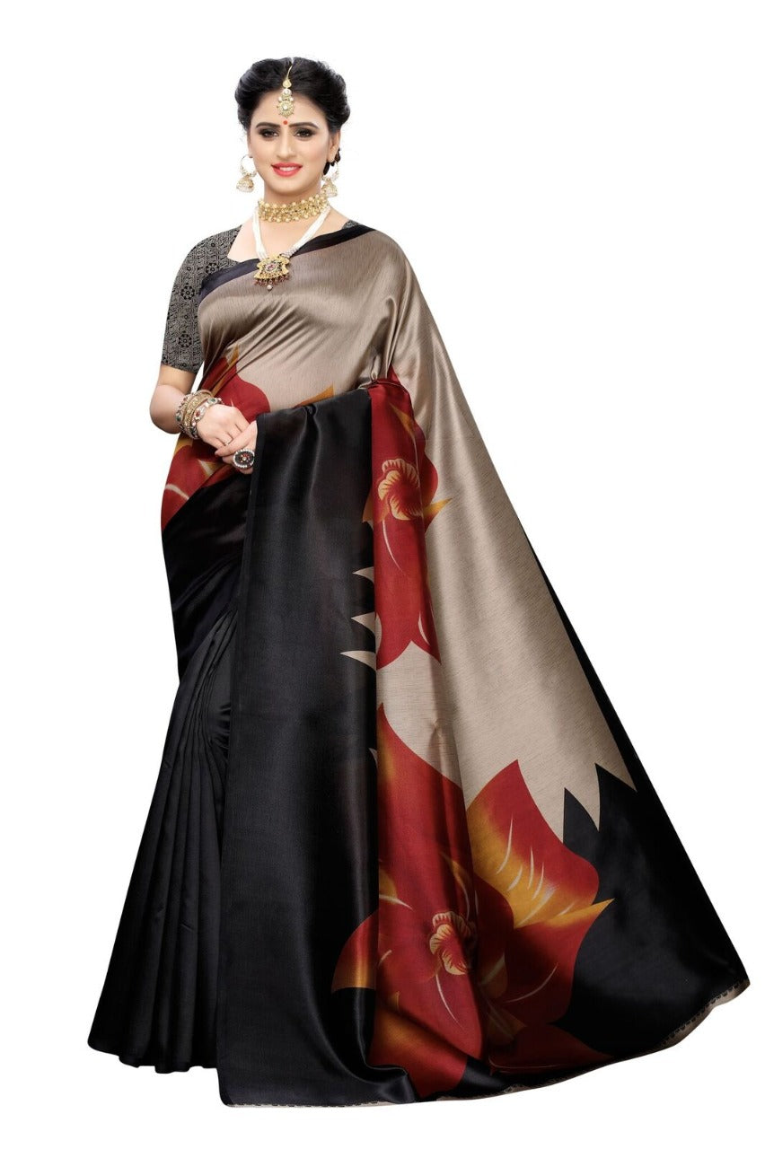 Women's Beautiful Printed Art Silk Saree