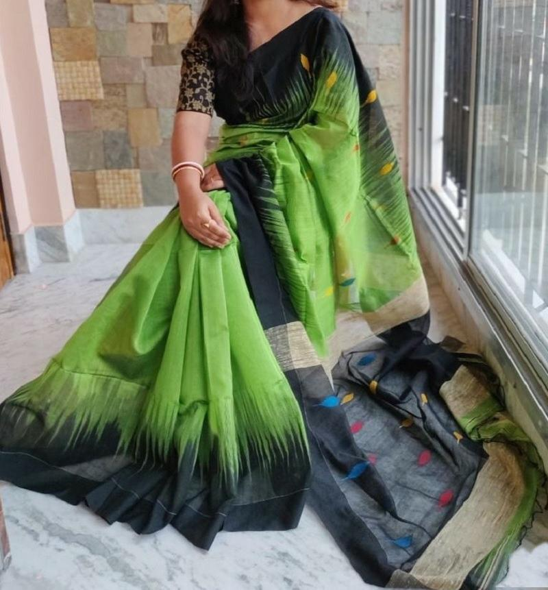 Pure soft silk saree with Blouse piece