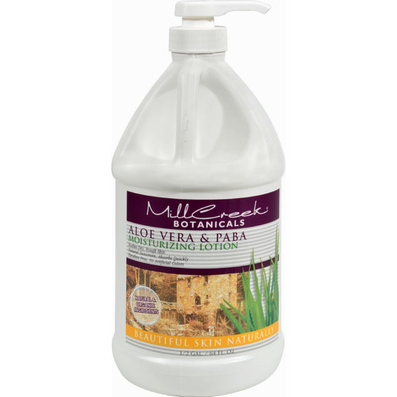 Mill Creek Botanicals Aloe Vera and PABA Moisturizing Lotion - 64 fl oz Pack of 3