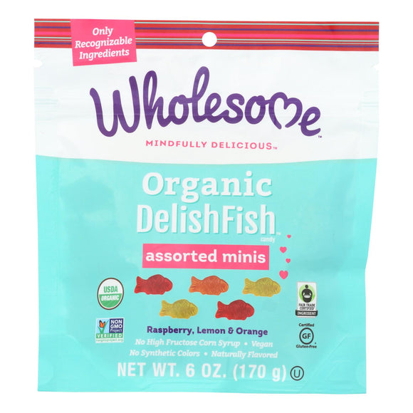 Wholesome - Delishfish Asst Minis - Case of 6 - 6.00 OZ