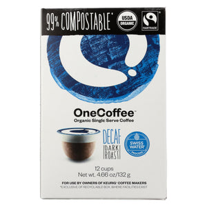 One Coffee - Decaf Dark Roasted - Case of 6 - 12 Count