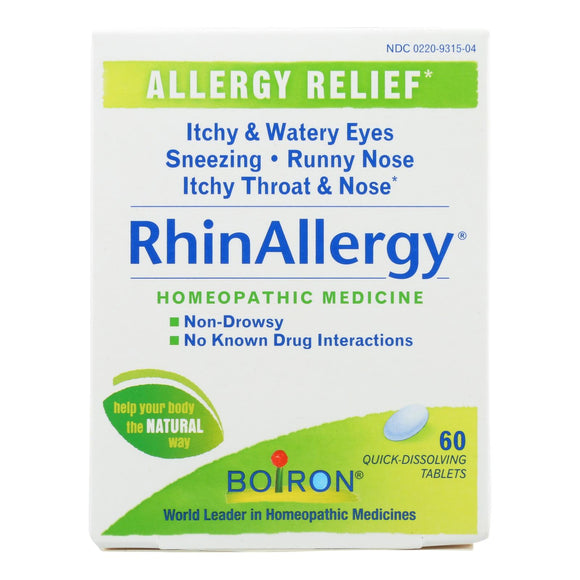Boiron - RhinAllergy Allergy Relief - 60 Tablets Pack of 3