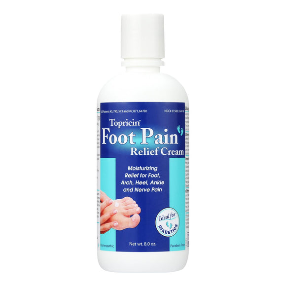 Topricin Foot Therapy Cream - 8 oz Pack of 3