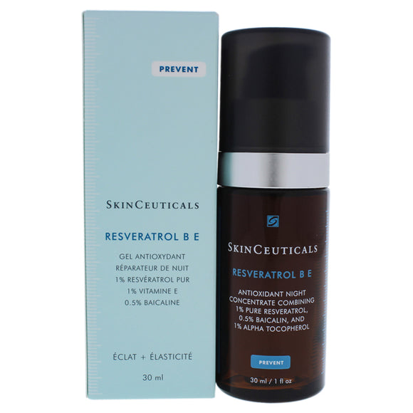 Resveratrol B E Antioxidant Night by SkinCeuticals for Unisex - 1 oz Serum Pack of 3