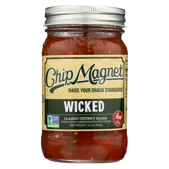 Chip Magnet Salsa Sauce Appeal - Salsa - Wickedly Delicious - Case of 6 - 16 oz.