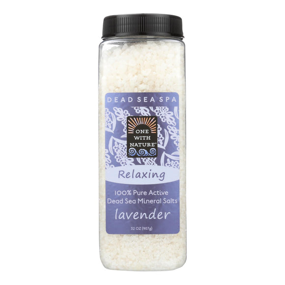 One With Nature Bath Salts - Dead Sea Mineral - Lavender Tangerine - 32 oz Pack of 3