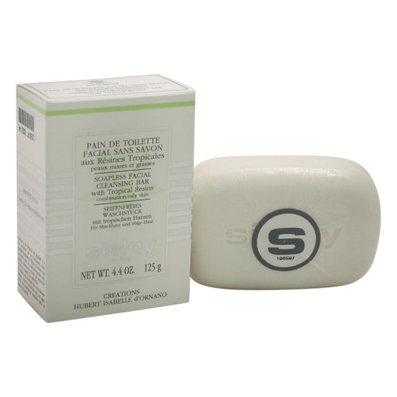 Soapless Facial Cleansing Bar by Sisley for Unisex - 4.4 oz Soap Pack of 3