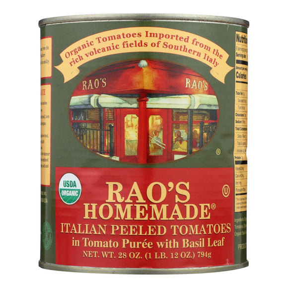 Rao's Specialty Food Homemade - Italian Peeled Tomatoes - Case of 12 - 28 oz.