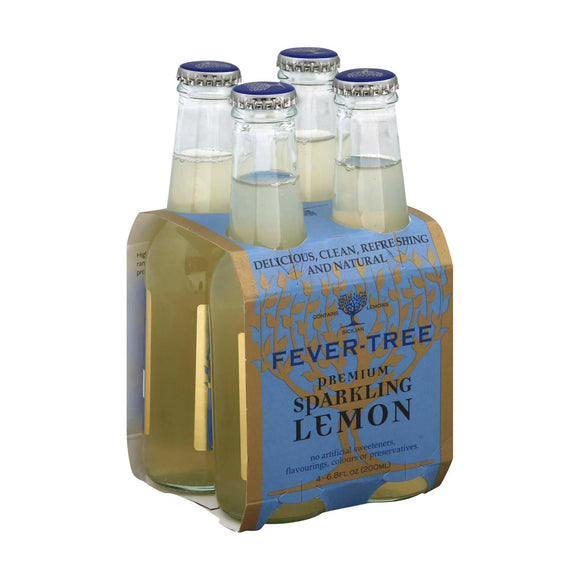 Fever - Tree Premium Sparkling Water - Lemon - Case of 6 - 6.8 Fl oz.