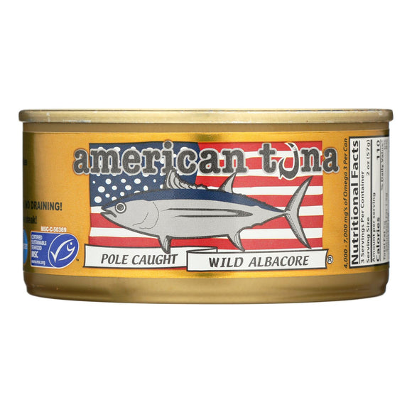 American Tuna - Canned Tuna - Salt - Case Of 24 - 6 Oz